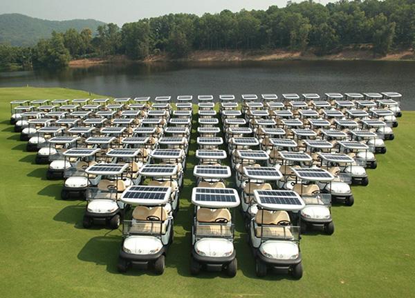 太阳能高尔夫球车供电系统